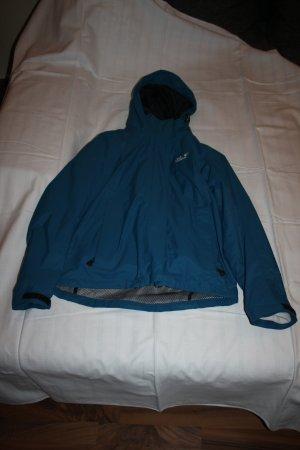 Winterjacke Jack Wolfskin Größe S 2teilig petrol weiß fleece warm Kapuze