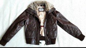 Chaqueta de invierno marrón Cuero