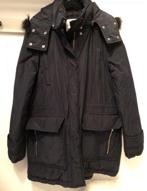 Mango Manteau d'hiver bleu foncé-noir