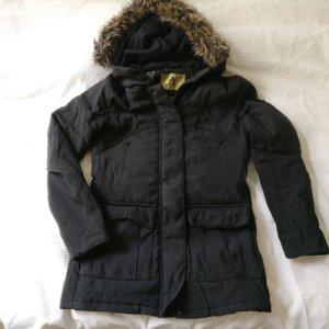 Winterjas zwart-grijs-bruin