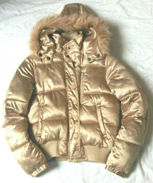 Winterjacke metallic gold