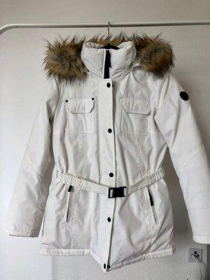 Winterjacke Michael Kors weiß dick warm wasserdicht Faux Fur M 40