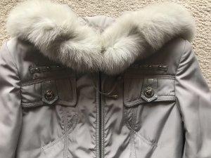 Winterjacke mit echtem Fell