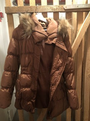 Hallhuber Winter Jacket cognac-coloured