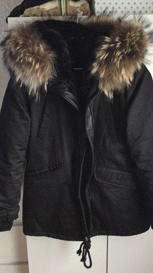 Winterjacke mit echtem Pelz