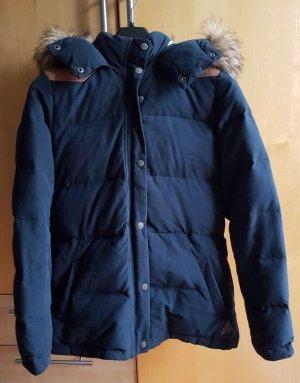 Winterjacke mit Fell blau H&M Größe 36