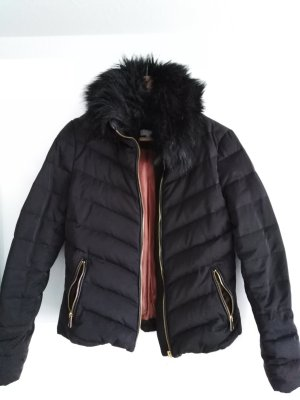 H&M Winter Jacket black-gold-colored