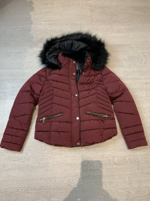 Primark Fake Fur Jacket bordeaux