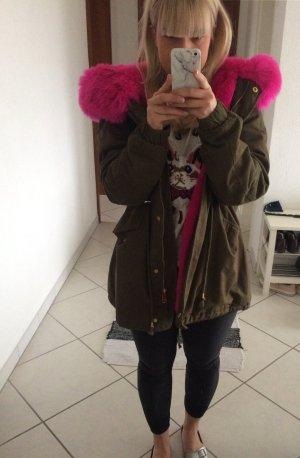 Winterjacke Parka mit pinkem Fell