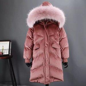 Winterjacke rosa Kapuze Fell samt Parka