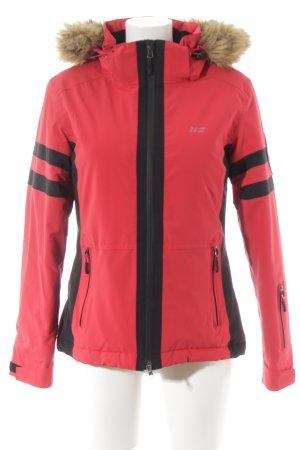 Winterjacke rot-schwarz sportlicher Stil