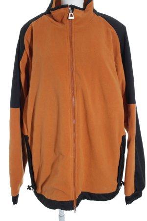 Winterjacke schwarz-orange Casual-Look