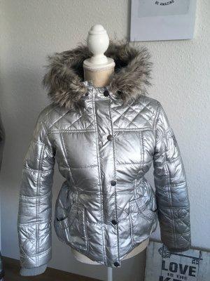 Winterjacke Silber