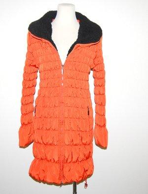Winterjacke - Steppmantel in orange von Just Addict - Gr. XL