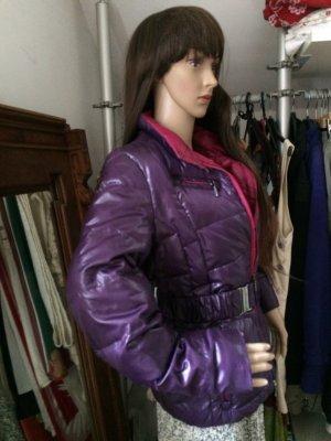 Winterjacke von Geox, Violett, innen pink
