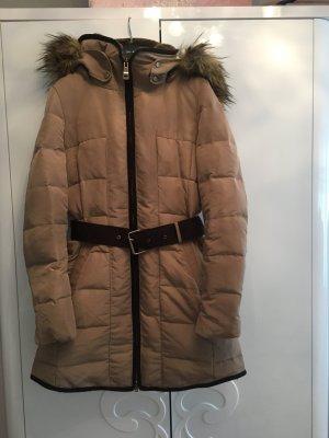 Zara Veste d'hiver brun foncé-beige
