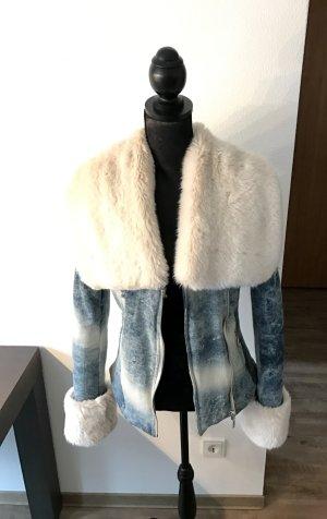 Winterjeansjacke mit Fellkragen
