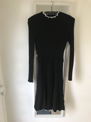 Anna Field Longsleeve Dress black-white viscose
