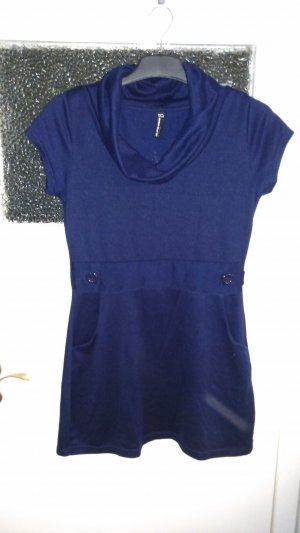 Blind Date Vestido de lana azul oscuro