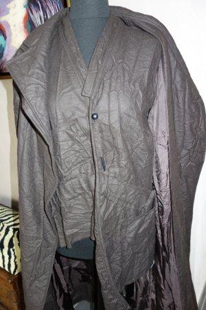 Tailleur marrone scuro-marrone-nero Tessuto misto