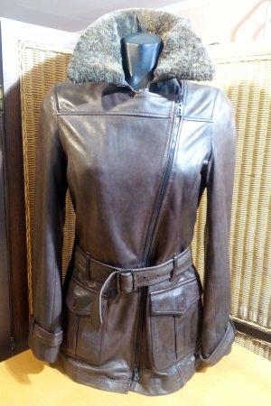 Winterliche Lederjacke von Marc O'Polo in Gr.36