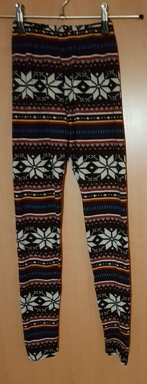 winterliche Leggings
