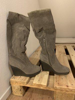 Graceland Plateauzool Laarzen zwart-grijs-bruin