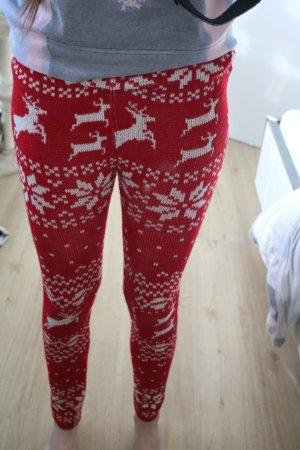 winterliche rote Leggings