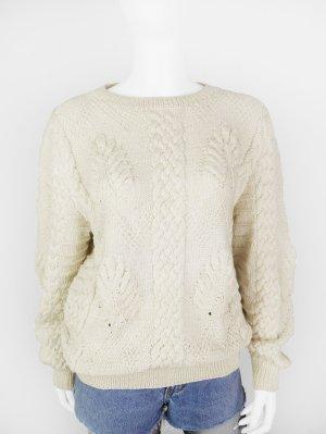 Winterlicher Vintage Pullover mit Zöpfen