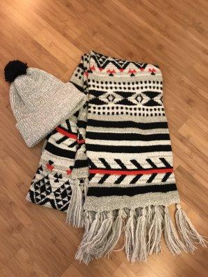 Winterliches Schal / Mütze Set
