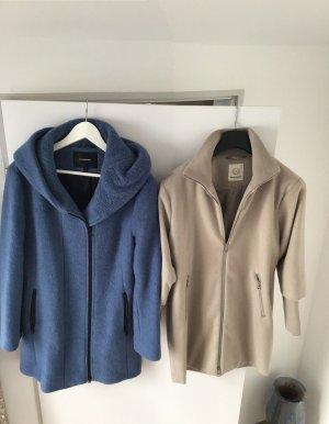 Beaumont Wollen jas wolwit-korenblauw Wol