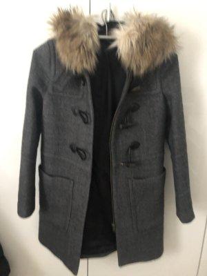 Zara Cappotto con cappuccio grigio scuro-grigio