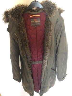 Q/S Abrigo de invierno gris verdoso