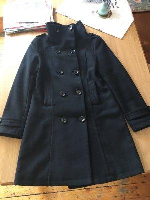 H&M Divided Winter Coat black