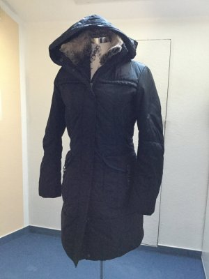 Dee Jays Hooded Coat dark blue polyester