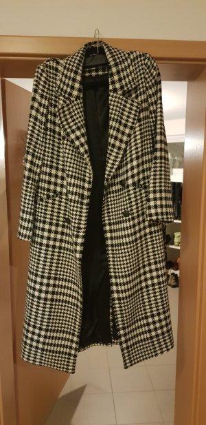 United Colors of Benetton Cappotto in lana nero-bianco sporco