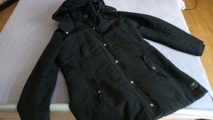 Abrigo de invierno negro Algodón
