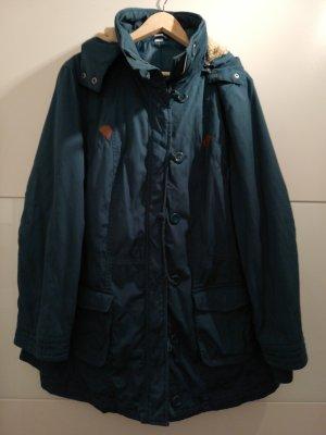 Wintermantel dunkel grün/ blau