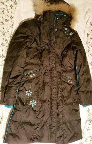 Manteau en duvet bleu foncé