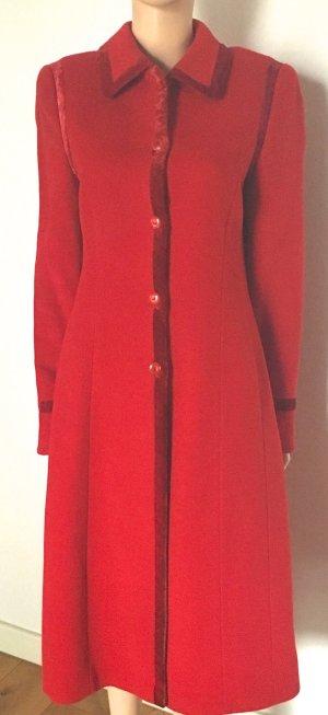 Escada Cappotto in lana rosso Lana vergine