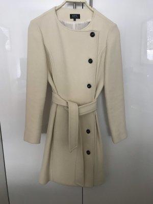 A.P.C. Cappotto in lana bianco sporco