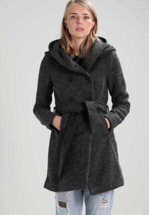Wintermantel grau Filz elegant ONLY mit Kapuze