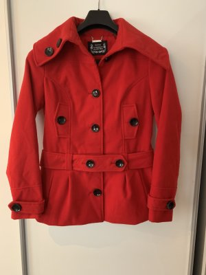 Wool Coat brick red polyester