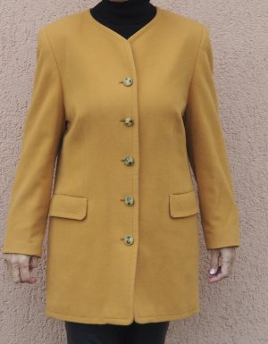Short Coat dark yellow cashmere
