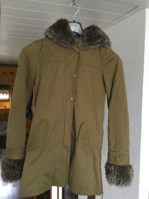 Wintermantel Khaki von Zara