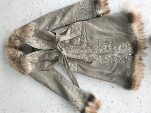 Wintermantel Leder Fell Wolle Vintage Style Instagram NP 990 EUR Berto Lucci