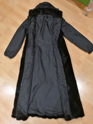 Hallhuber Fake Fur Coat black