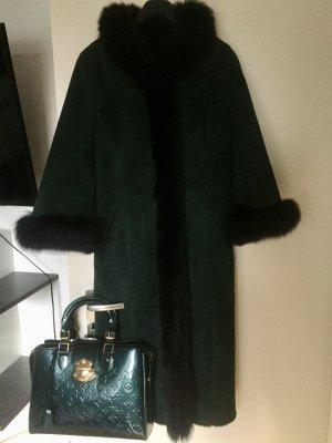 Wintermantel Mantel von Paola Pelle Jacke Echt Leder mit Gürtel neuwertig