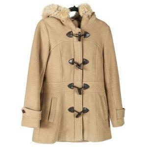 Andrew Marc New York Abrigo de lana marrón claro-camel Cachemir