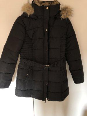 Manteau d'hiver noir-doré